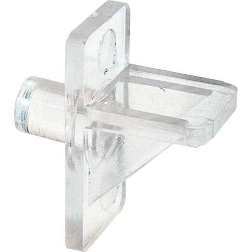 Prime-Line 1/4 In. Clear Plastic Shelf Support (8 Count)