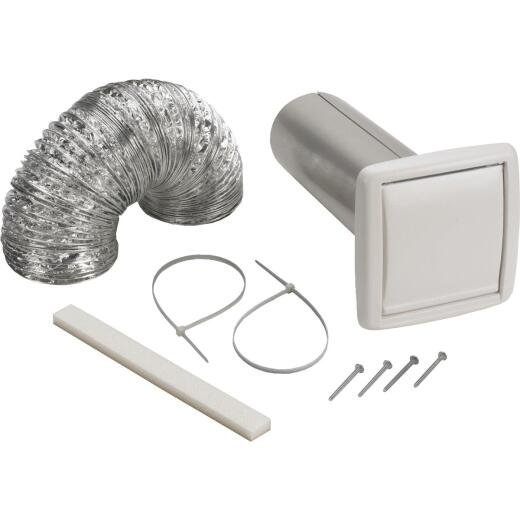 Broan-Nutone 3 In./4 In. Exhaust Fan Wall Vent Kit (8-Piece)