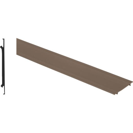 Screen-Tight 3-1/2 In. W. x 8 Ft. L. Brown Vinyl Cap Component