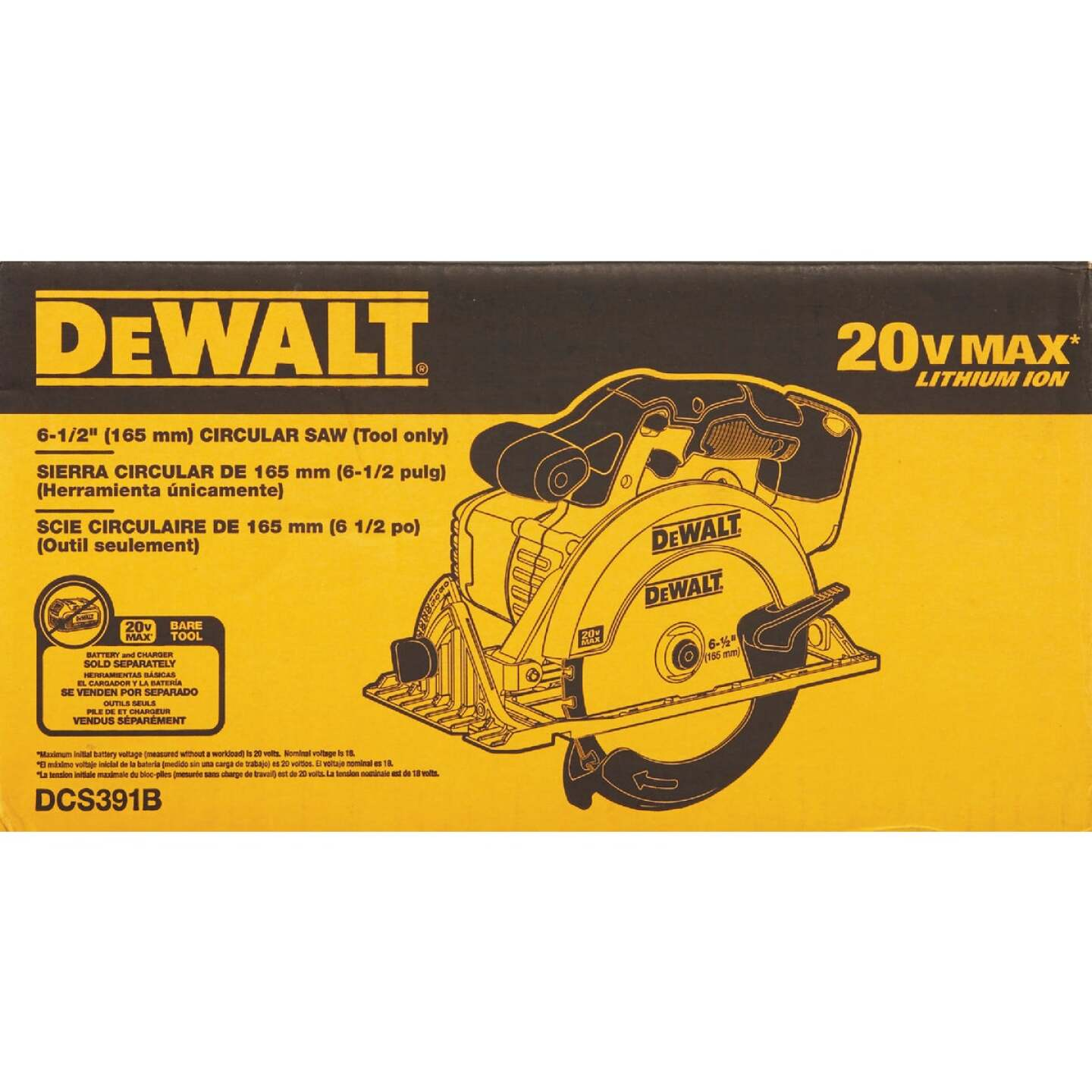 DeWalt 20 Volt MAX Lithium-Ion 6-1/2 In. Cordless Circular Saw (Bare Tool) Image 2