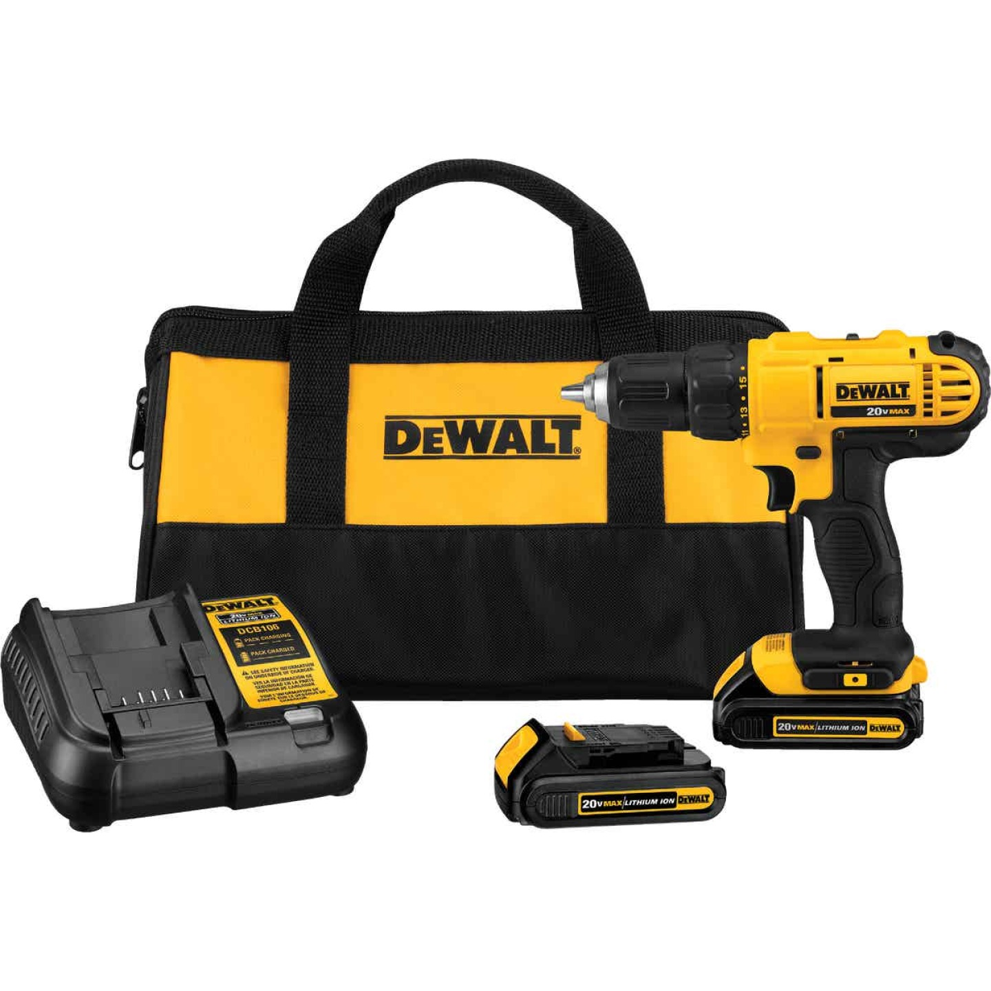 DeWalt 20 Volt MAX Lithium-Ion 1/2 In. Cordless Drill Kit Image 1