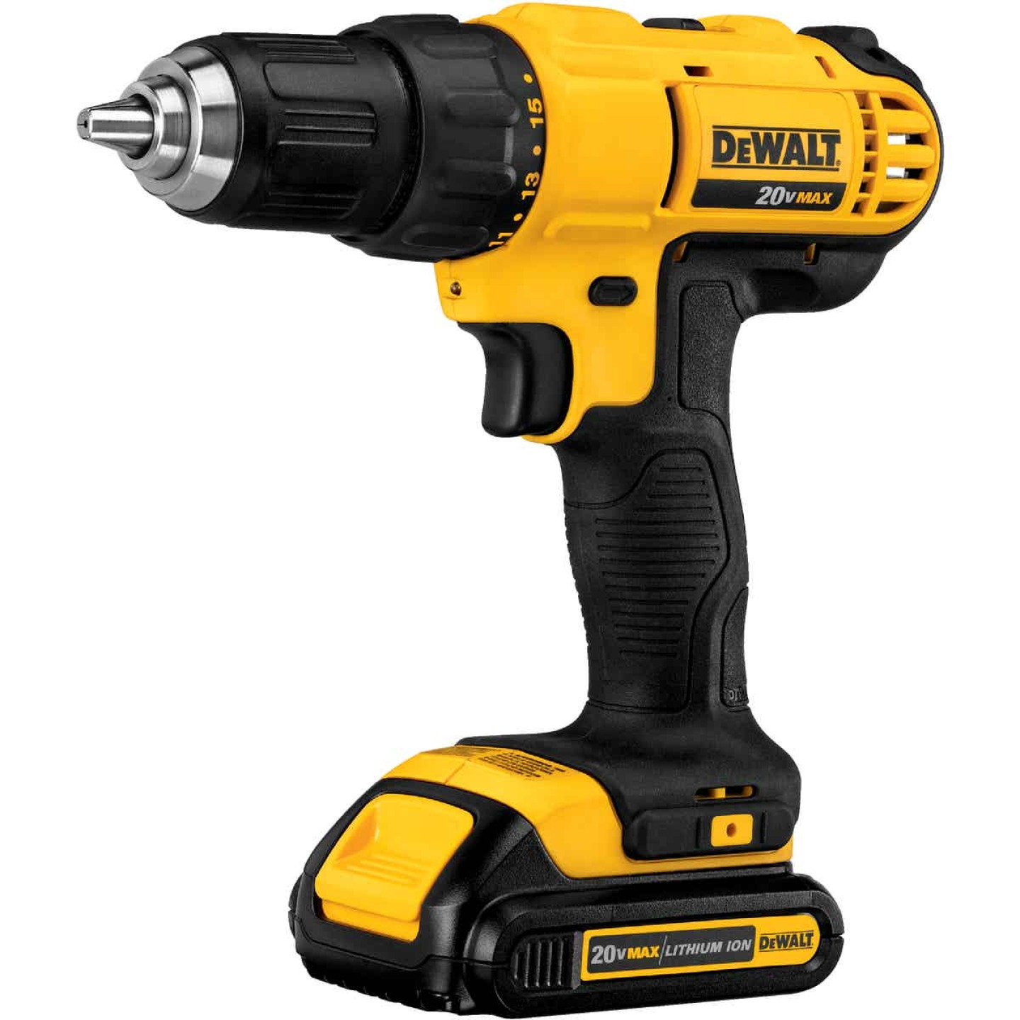 DeWalt 20 Volt MAX Lithium-Ion 1/2 In. Cordless Drill Kit Image 5