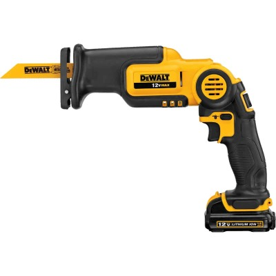 DeWalt 12 Volt MAX Lithium-Ion Pivoting Cordless Reciprocating Saw Kit