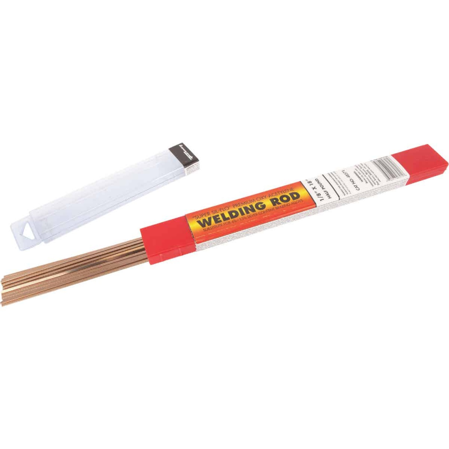 Forney 1/8 In. x 18 In. Super Sil-Flo Brazing Rod, 1/2 Lb. Image 1