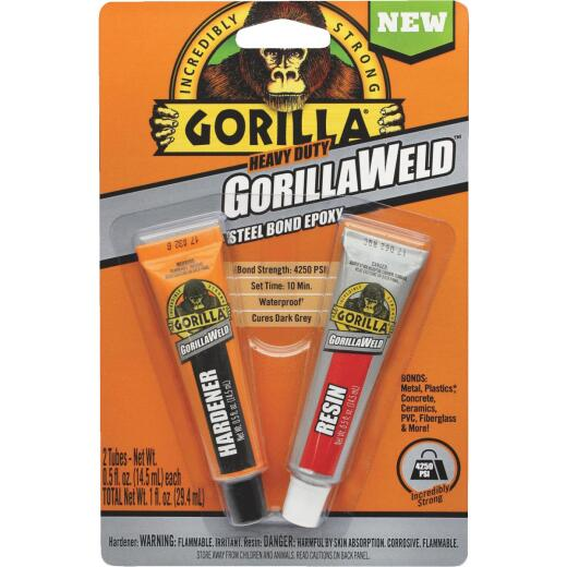 GorillaWeld 0.5 Oz. Heavy-Duty Steel Bond Epoxy