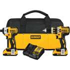 DeWalt 2-Tool 20V MAX XR Lithium-Ion Brushless Compact Hammer Drill & Impact Driver Cordless Tool Combo Kit Image 1