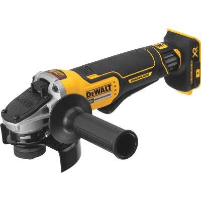 DeWalt 20 Volt MAX Lithium-Ion Brushless 4-1/2 In. Angle Grinder w/Kickback Brake (Bare Tool)
