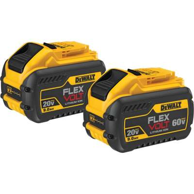 DeWalt Flexvolt 20 Volt and 60 Volt MAX Lithium-Ion 9.0 Ah Tool Battery (2-Pack)