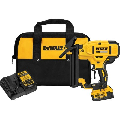 DeWalt 20 Volt MAX XR Lithium-Ion Brushless 18-Gauge 1/4 In. Crown 1-1/2 In. Cordless Floor Stapler Kit