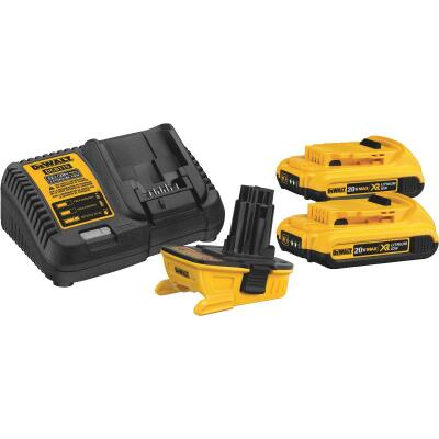 DeWalt 18 Volt to 20 Volt MAX Battery Adapter Combo Kit