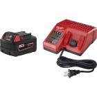 Milwaukee M18 REDLITHIUM XC 18 Volt Lithium-Ion 5.0 Ah Extended Capacity Tool Battery/Charger Starter Kit Image 1