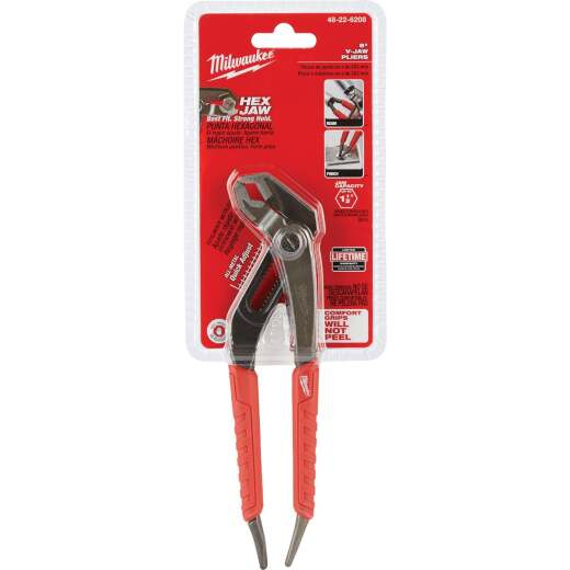 Milwaukee 8 In. V-Jaw Groove Joint Pliers