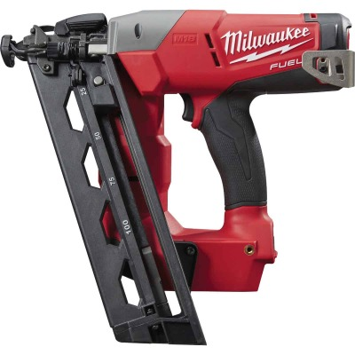 Milwaukee M18 FUEL 18 Volt Lithium-Ion Brushless 16-Gauge 2-1/2 In. Angled Cordless Finish Nailer (Bare Tool)