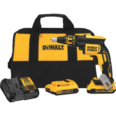 DeWalt 20 Volt MAX XR Lithium-Ion Brushless Drywall Cordless Screwgun Kit