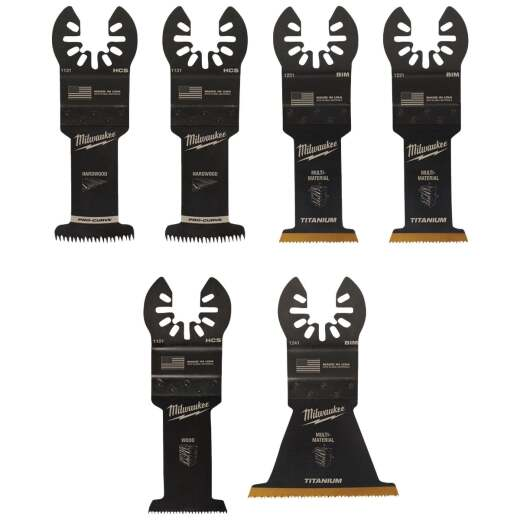Milwaukee OPEN-LOK Multi-Tool General Purpose Oscillating Blade Assortment (6-Piece)