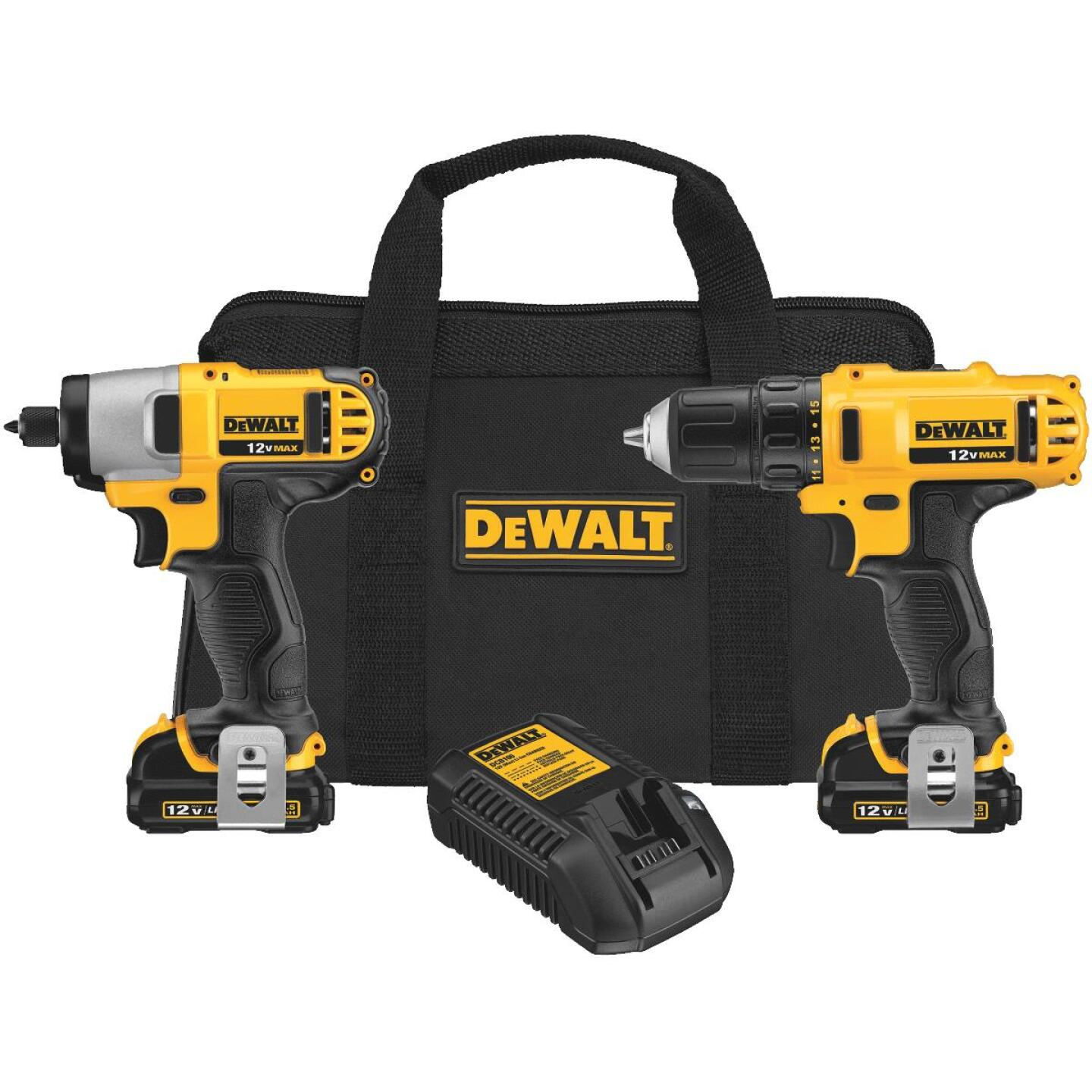 DeWalt XTREME 2-Tool 12 Volt MAX Lithium-Ion Brushless Drill & Impact Driver Cordless Tool Combo Kit Image 1