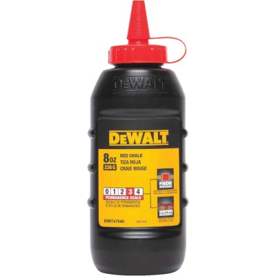 DeWalt 8 Oz. Red Chalk Line Chalk