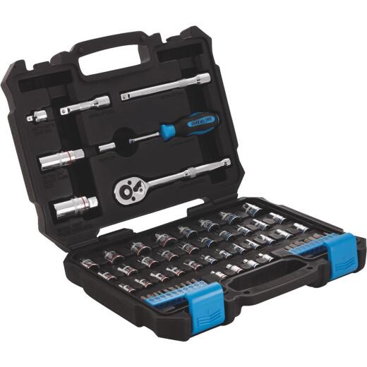 Channellock Standard and Metric 1/4 In. and 3/8 In. Drive Combination Ratchet & Socket Set (63-Piece)