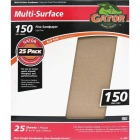 Gator Multi-Surface 9 In. x 11 In. 150 Grit Fine Sandpaper (25-Pack) Image 1