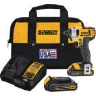 DeWalt 20 Volt MAX Lithium-Ion 1/4 In. Hex Cordless Impact Driver Kit (2-Battery) Image 1