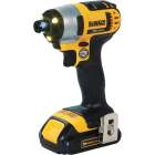 DeWalt 20 Volt MAX Lithium-Ion 1/4 In. Hex Cordless Impact Driver Kit (2-Battery) Image 6