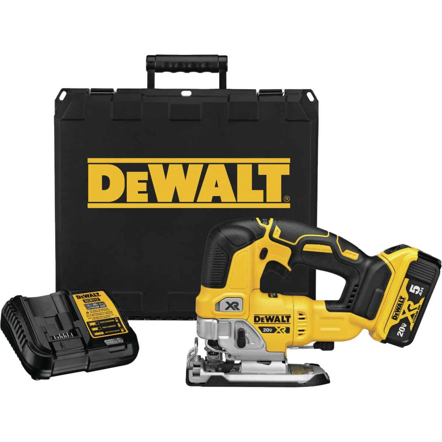 DeWalt 20 Volt MAX XR Lithium-Ion 5.0 Ah Brushless Cordless Jig Saw Kit Image 1
