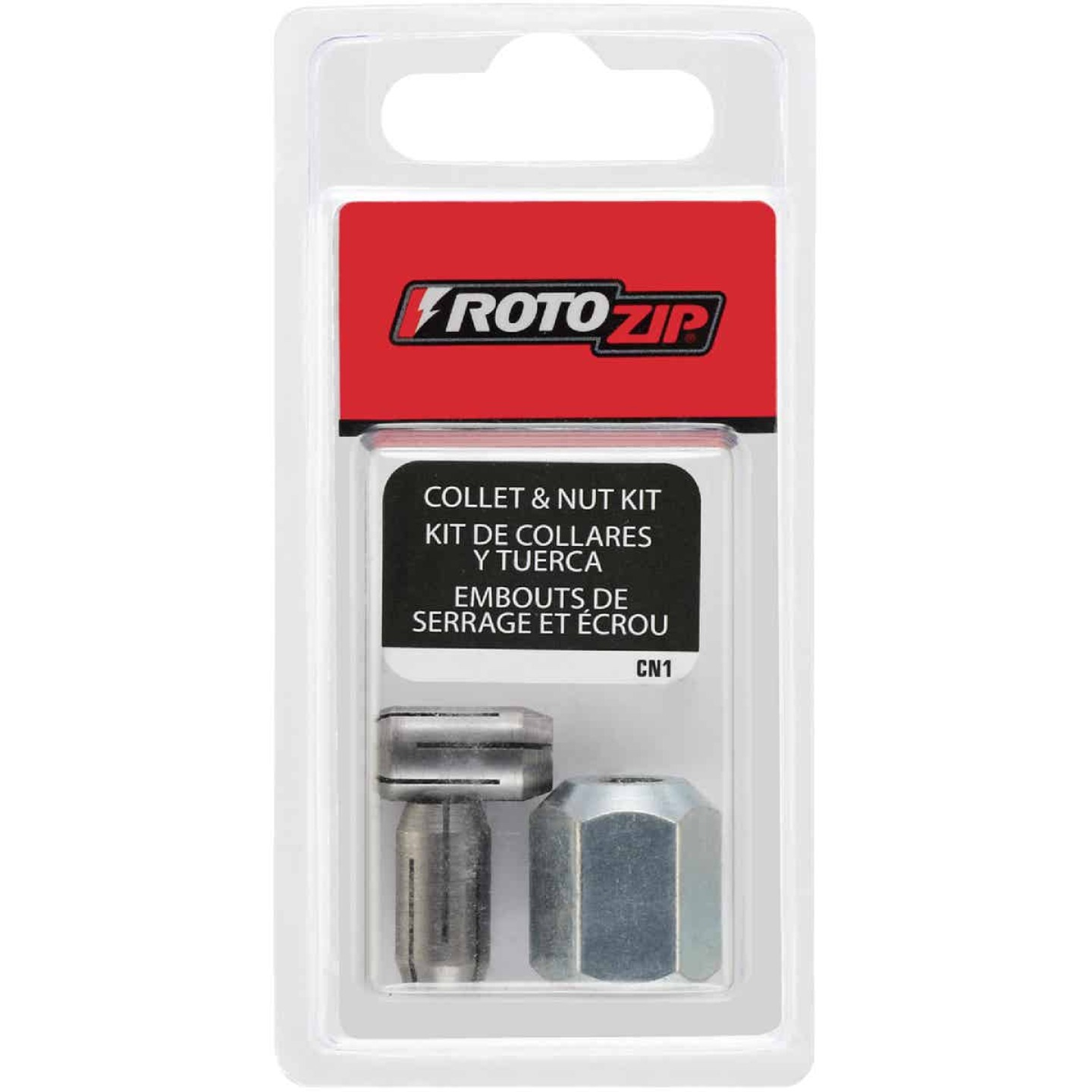 RotoZip 1/8 In., 5/32 In., 1/4 In. Collet Nut Kit (4-Pieces) Image 2