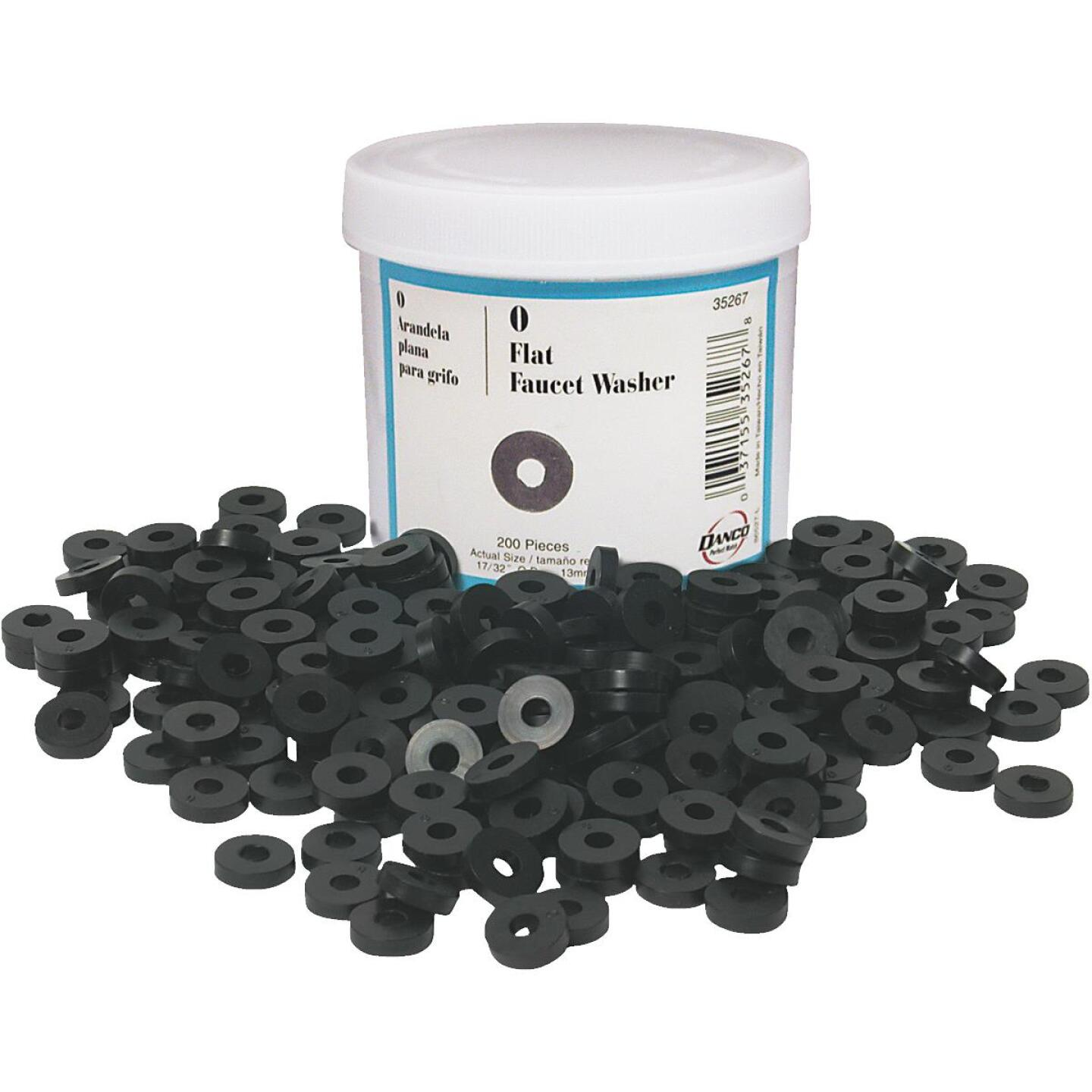 Danco 17/32 In. Black Flat Faucet Washer (200 Ct.) Image 1