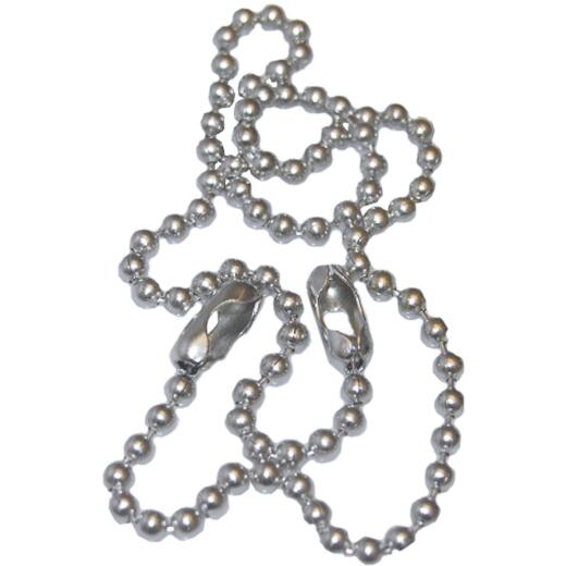 Lasco Chrome Bead 15 In. Chrome Plated Stopper Chain