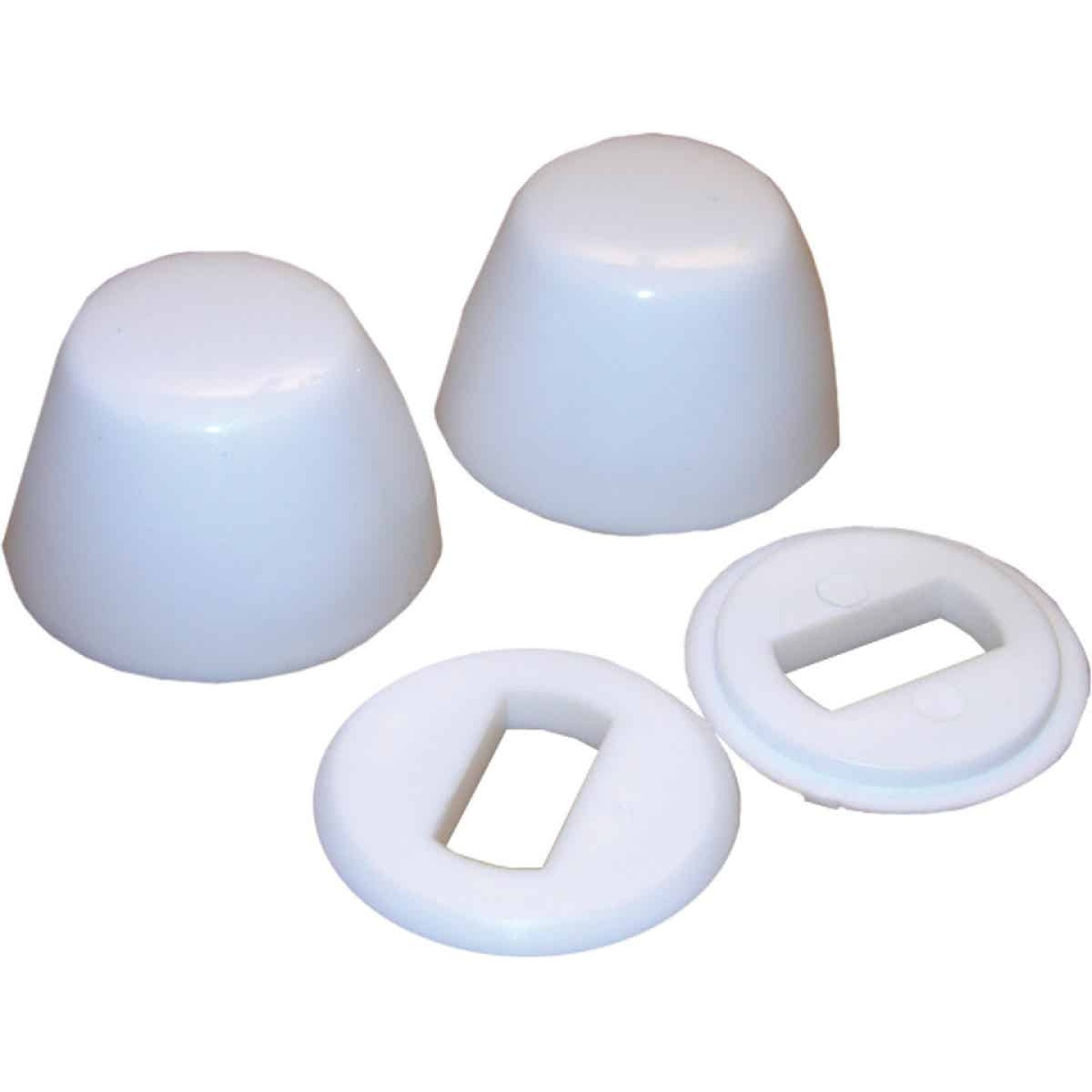 Lasco Round White Plastic Snap-On Toilet Bolt Caps (2 Ct.) Image 1