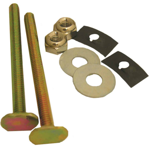Lasco Brass Toilet Bolts with Retainers Washers and Nuts
