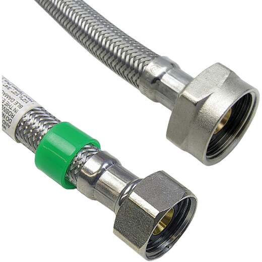 Lasco 1/2 IPS x 7/8 BC x 9 Braided Stainless Steel Flex Line Toilet Connector
