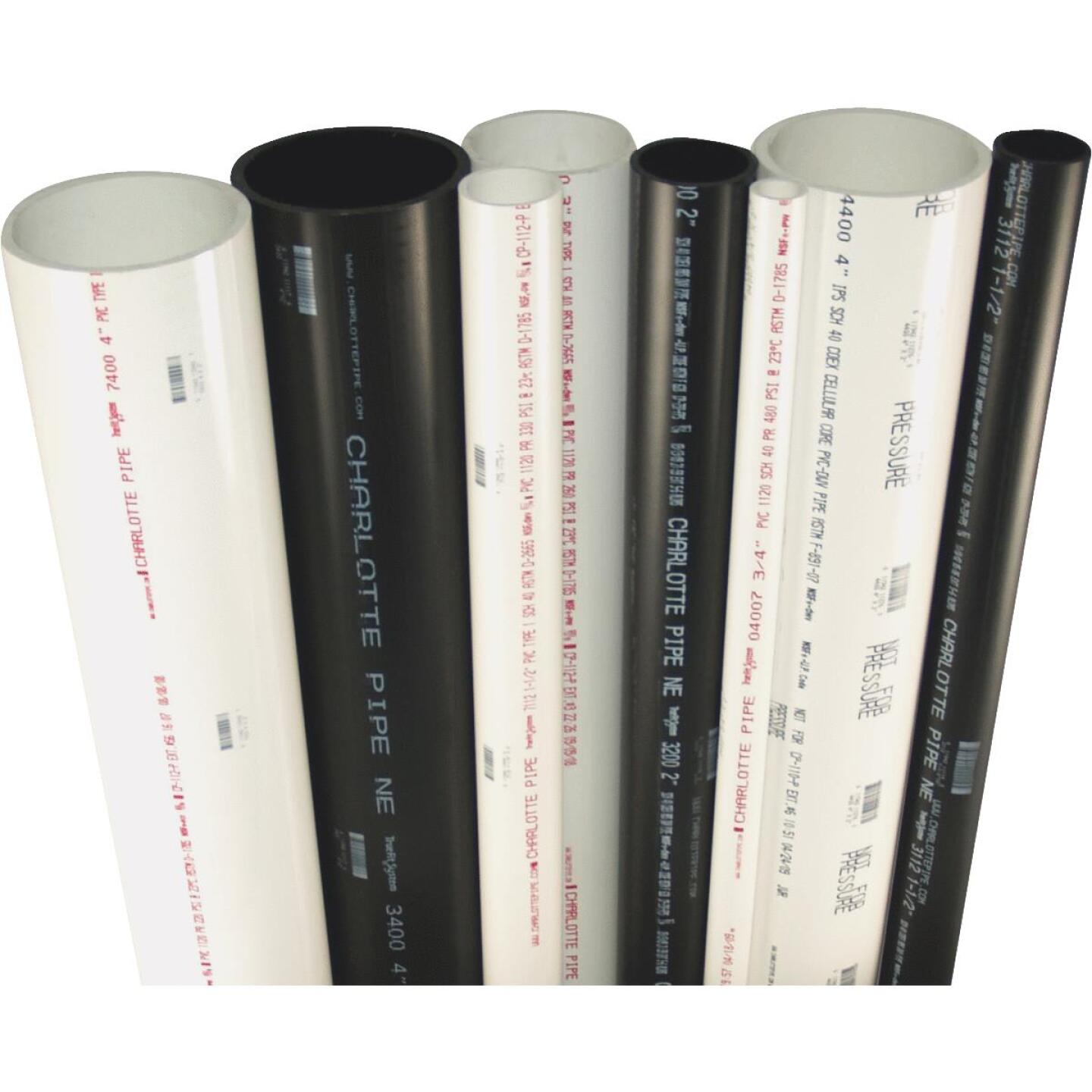 Charlotte Pipe 1-1/4 In. x 10 Ft. Cold Water Schedule 40 PVC Pressure Pipe Image 2