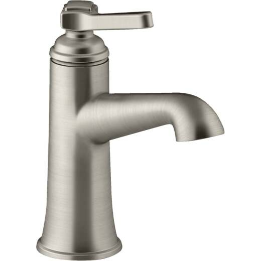 Kohler Georgeson Brushed Nickel 1-Handle Lever 4 In. Centerset Bathroom Faucet with Pop-Up