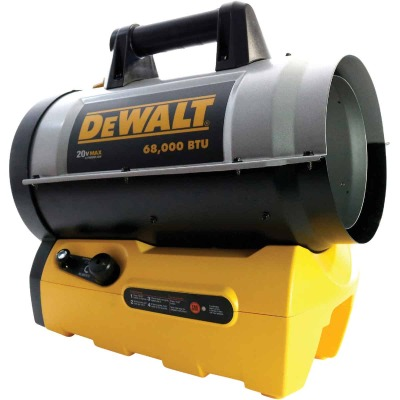 DeWalt Cordless 20 Volt MAX Lithium-Ion 68,000 BTU Propane Forced Air Heater (Bare Tool)