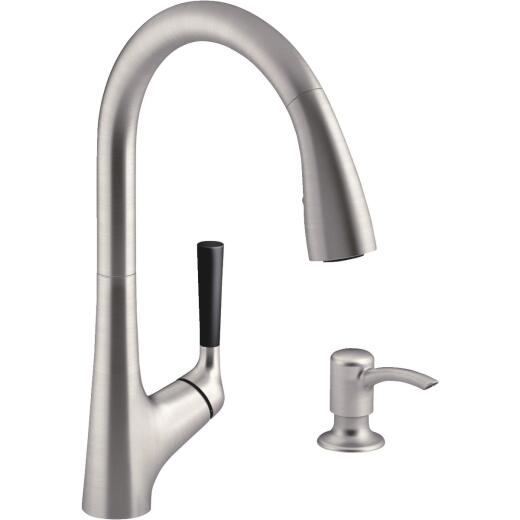 Kohler Malleco Single Handle Lever Pull-Down Kitchen Faucet, Stainless