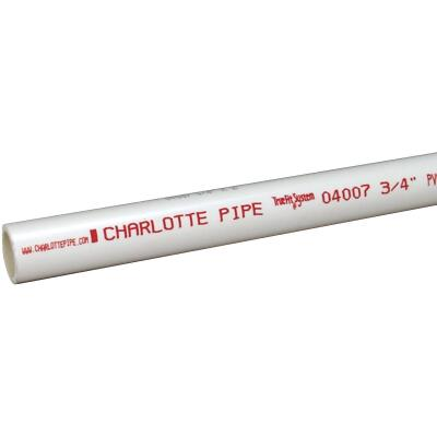 Charlotte Pipe 3/4 In. x 10 Ft. Cold Water Schedule 40 PVC Pressure Pipe