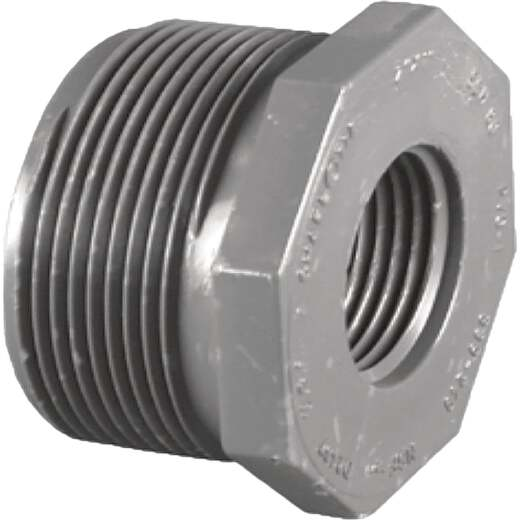 Charlotte Pipe 1 In. MPT x 1/2 In. FPT Schedule 80 Reducing PVC Bushing