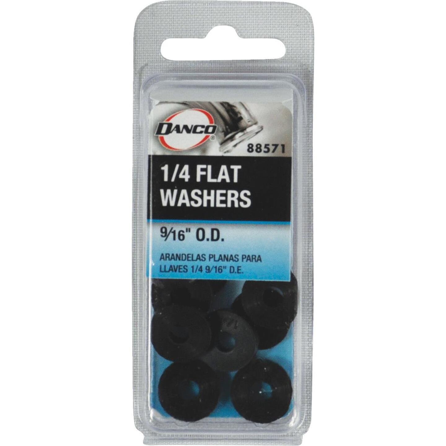 Danco 9/16 In. Black Flat Faucet Washer (10 Ct.) Image 2