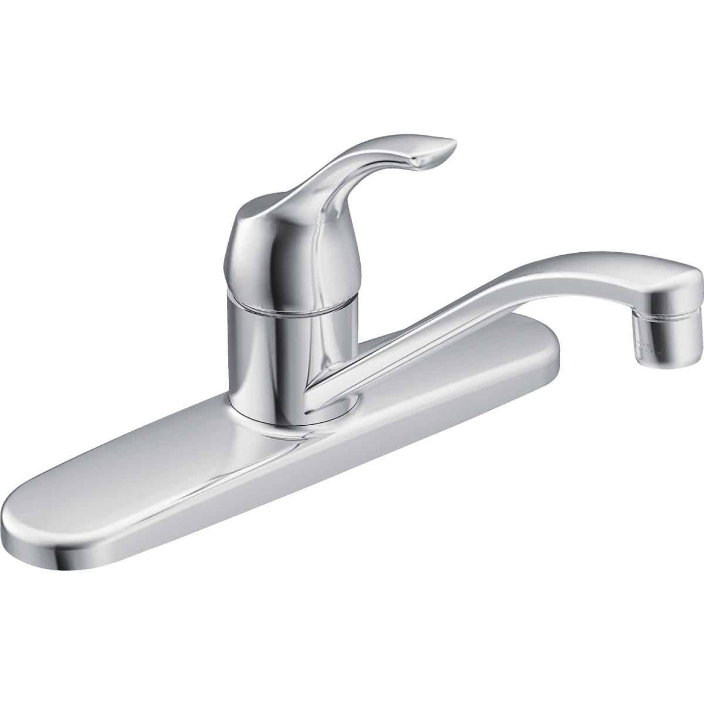 Moen Adler Single Handle Lever Kitchen Faucet, Chrome Image 1