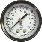 Simmons 1/8 In. MPT Fitting 100 psi Pressure Gauge Image 1