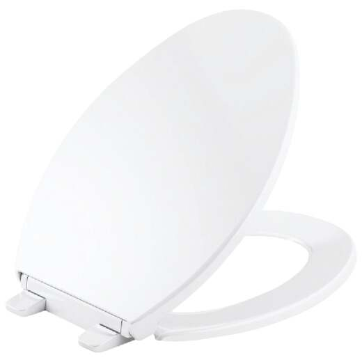 Kohler Brevia Quick-Release Round Closed Front White Plastic Toilet Seat