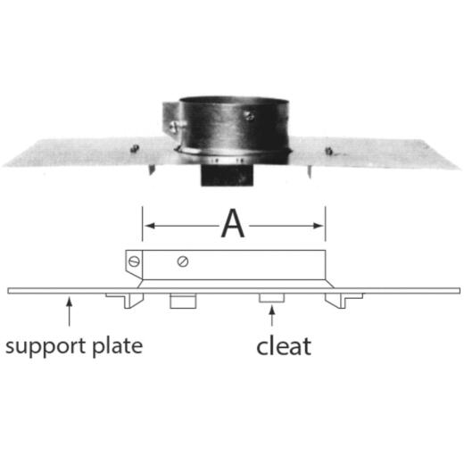 SELKIRK RV 4 In. x 4-5/8 In. x 17 In. x 10 In. Pipe Support Assembly