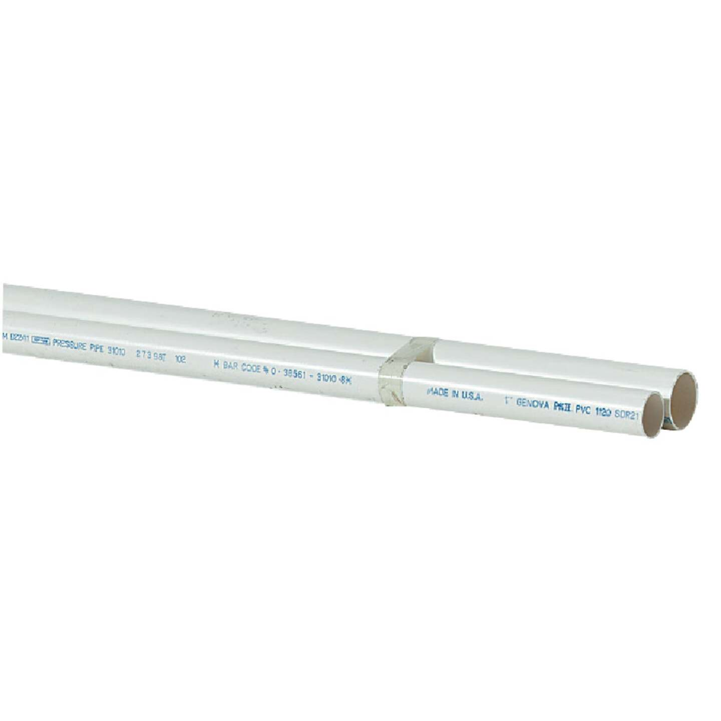 Charlotte Pipe 1-1/4 In. x 10 Ft. Cold Water PVC Pressure Pipe, SDR 26 Image 1