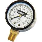 Simmons 1/4 In. MPT Fitting 200 psi Pressure Gauge Image 1