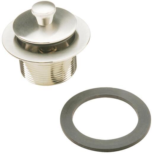 Do it Roller Ball Bathtub Drain Stopper Replacement Assembly with Brushed Nickel Finish