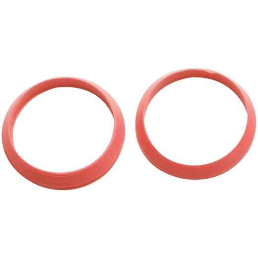Do it 1-1/4 In. Red Rubber Slip Joint Washer (2 Pack)