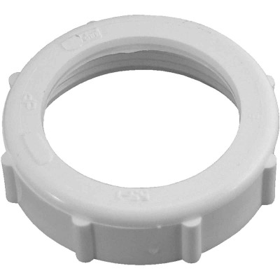 Do it 1-1/2 In. x 1-1/2 In. White Plastic Slip Joint Nut