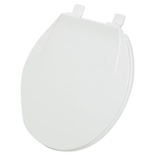Home Impressions Round Closed Front White Plastic Toilet Seat