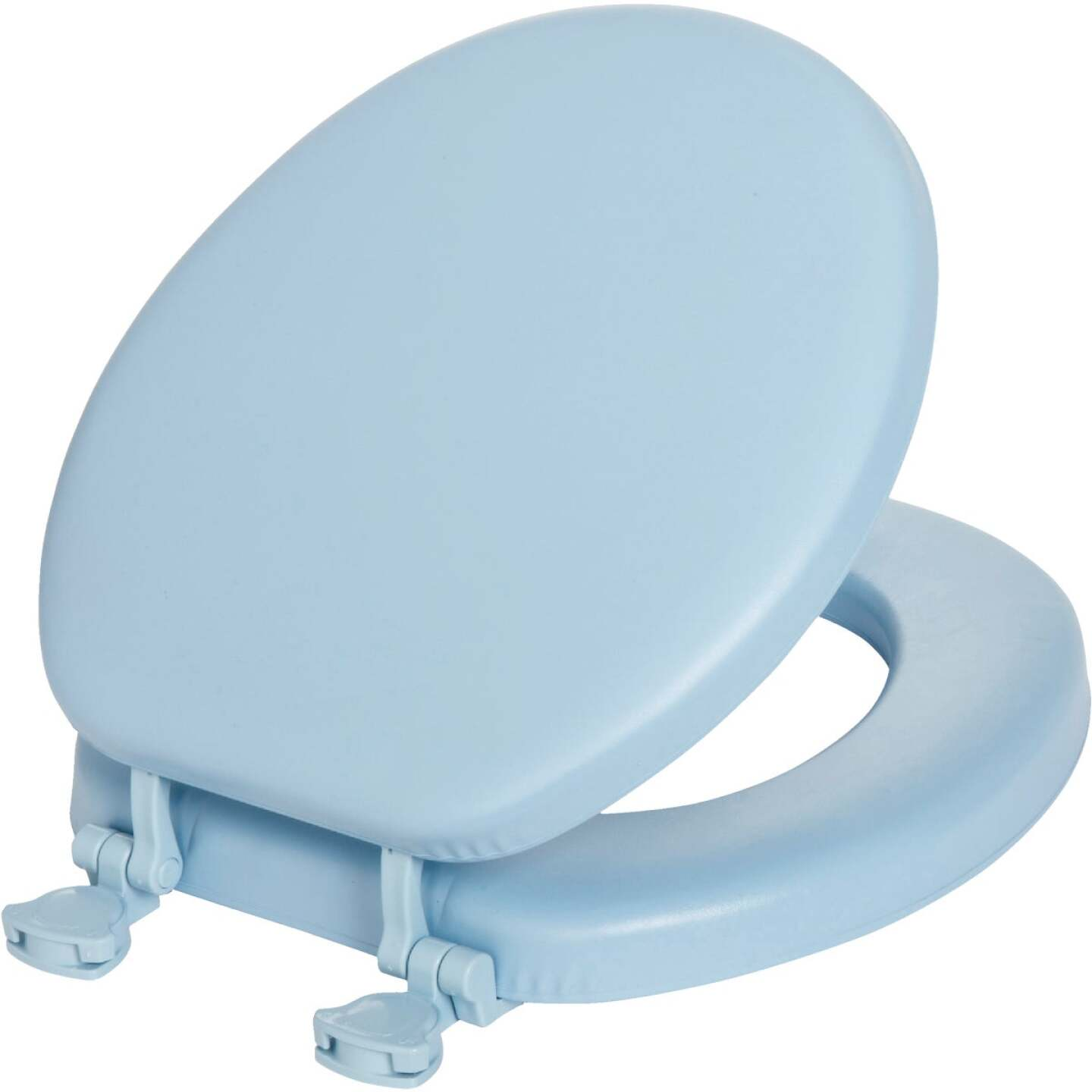 Mayfair Round Closed Front Premium Soft Sky Blue Toilet Seat Image 1